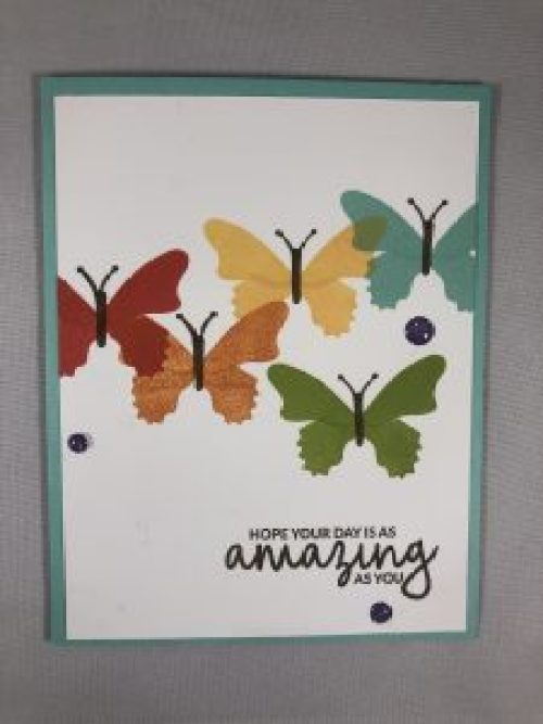 Stampin Up Butterfly Gala and Incredible Like you Birthday card idea - For more inspiration visit www.juststampin.com Jeanie Stark StampinUp