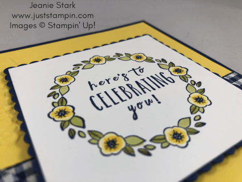 Stampin Up Perennail Birthday card idea using the wreath builder technique and the Accented Blooms stamp set with the Stamparatus - Jeanie Stark StampinUp