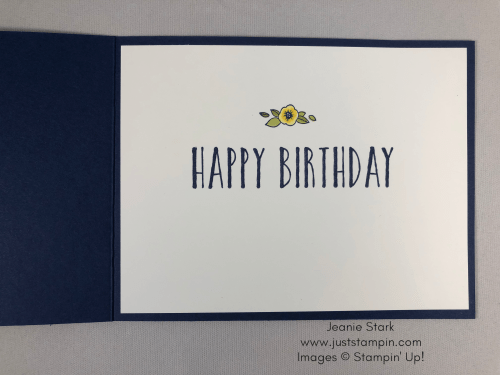 Stampin Up Perennial Birthday and Accented Blooms birthday card idea - Jeanie Stark StampinUp