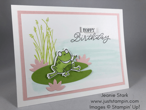 Stampin Up So Hoppy Together birthday card idea - Jeanie Stark StampinUp