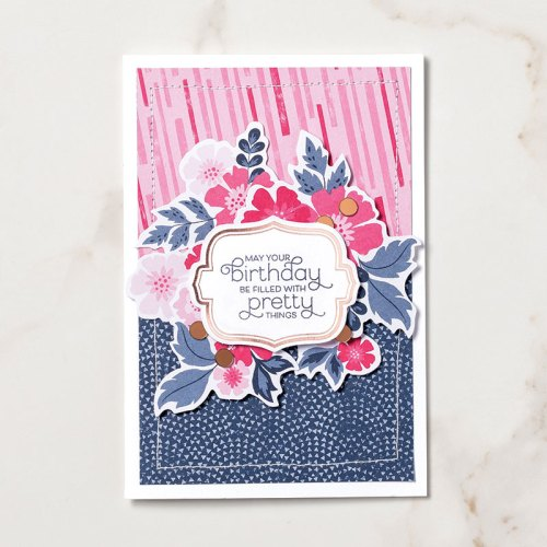 Stampin' Up! Everything is Rosy Product Medley birthday card idea - Jeanie Stark StampinUp