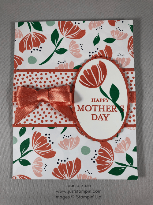 Stampin Up Mother's Day card idea using Just Because and Bloom By Bloom stamp sets - Jeanie Stark StampinUp