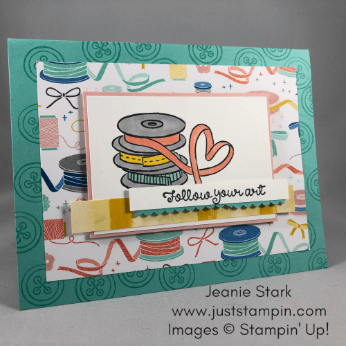 Stampin' Up! It Starts With Art card idea - Jeanie Stark StampinUp