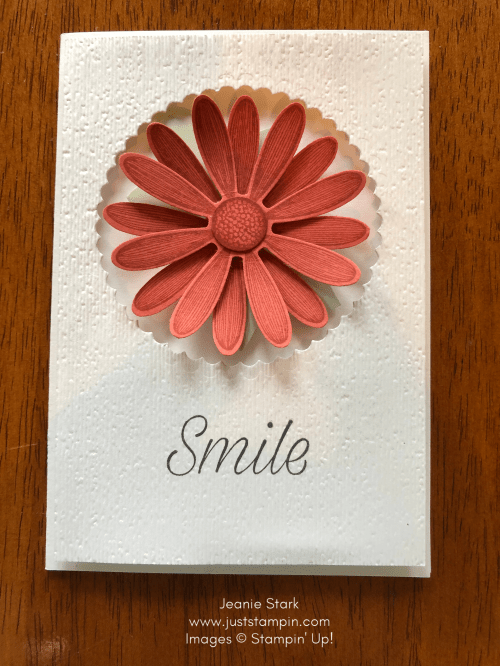 Stampin' Up! Terracotta Tile Daisy Lane note card idea - Jeanie Stark StampinUp