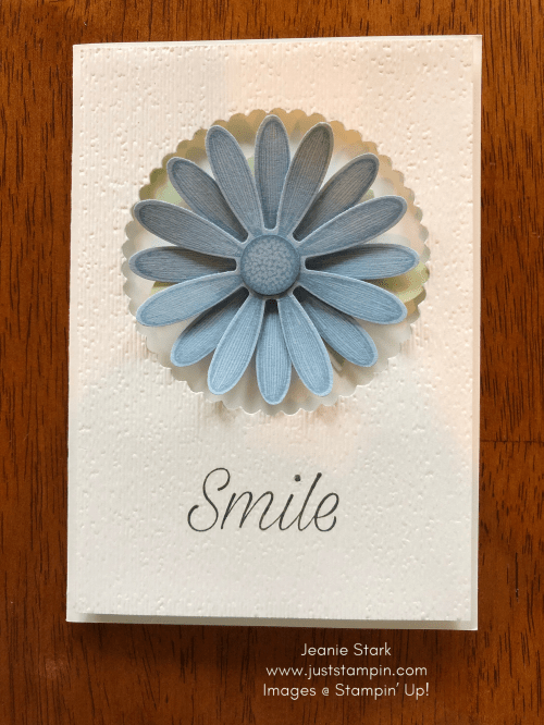 Stampin' Up! Seaside Spray Daisy Lane note card idea - Jeanie Stark StampinUp