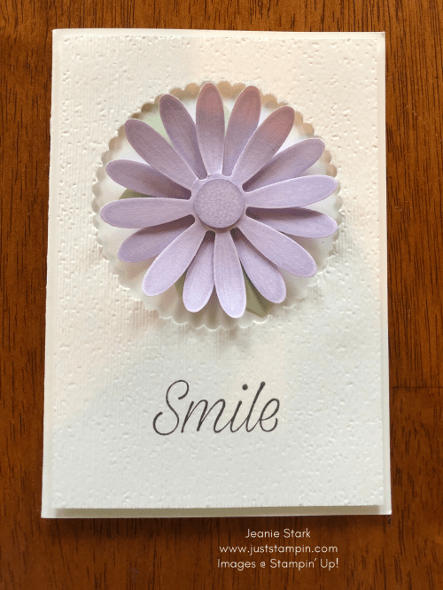 Stampin' Up! Purple Posy Daisy Lane note card idea - Jeanie Stark StampinUp