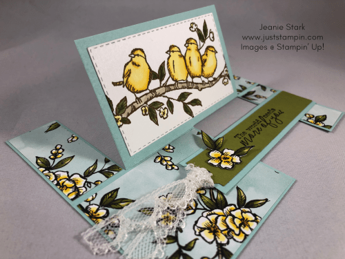 Stampin Up Free As a Bird Impossible Fun Fold All Occasion card idea - Jeanie Stark StampinUp