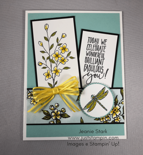 Stampin' Up! Picture Perfect Birthday and Touches of Texture birthday card idea - Jeanie Stark StampinUp