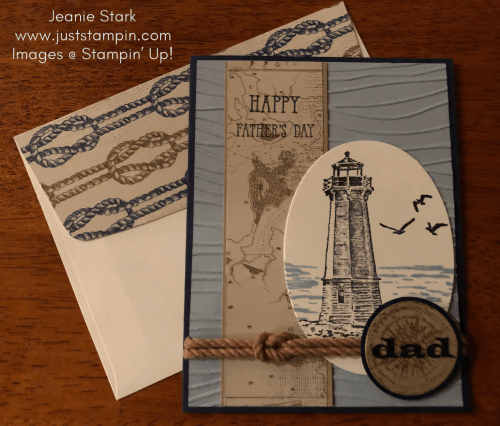 Stampin' Up! Sailing Home and Well Said Father's Day card idea - Jeanie Stark StampinUp