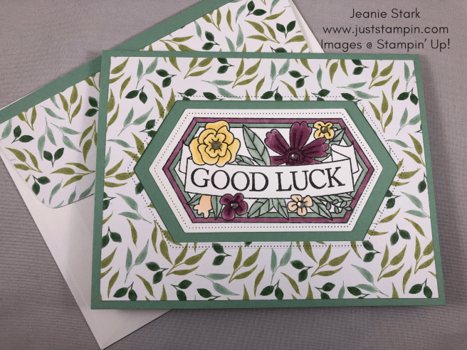 Stampin\' Up! Believe You Can Good Luck card idea - Jeanie Stark StampinUp