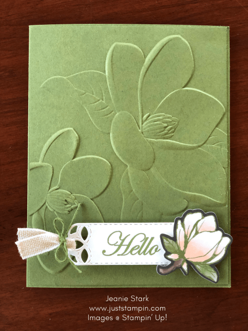 Stampin' Up! Magnolia Lane All Occasion Card idea - Jeanie Stark StampinUp