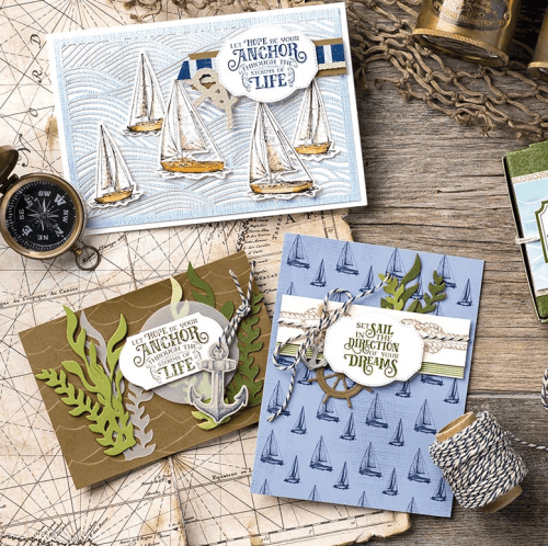 Stampin Up Come Sail Away Suite - For more ideas visit juststampin.com- Jeanie Stark StampinUp