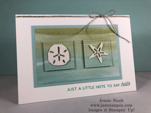 Stampin' Up! A Little Smile Paper Pumpkin alternative note card idea - Jeanie Stark StampinUp