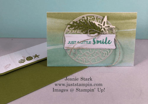 Stampin' Up! Paper Pumpkin Kit June 2019 A Little Smile card idea- Jeanie Stark StampinUp