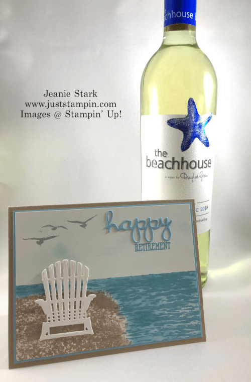 Stampin' Up! High Tide and Well Said retirement card idea - Jeanie Stark StampinUp