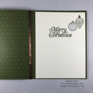 Stampin' Up! Christmas Gleaming Stamp Set and Brightly Gleaming Specialty Designer Series quick & easy Christmas card idea - Jeanie Stark StampinUp