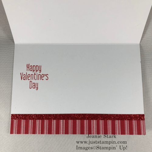 Stampin' Up! To Every Season Valentine card idea using Scalloped Note Card and Let it Snow Designer Series Paper - Jeanie Stark StampinUp