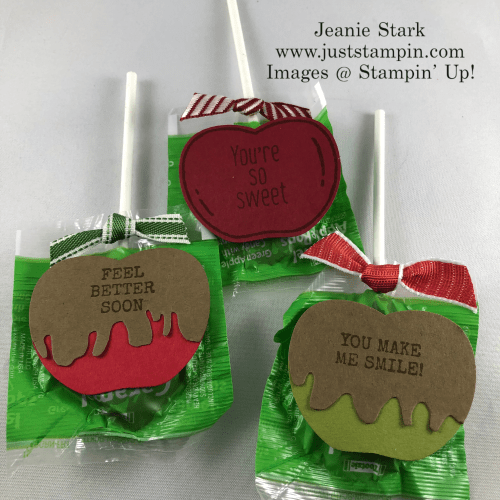 Stampin' Up! Harvest Hellos and Apple Builder Punch candy treats - Jeanie Stark StampinUp