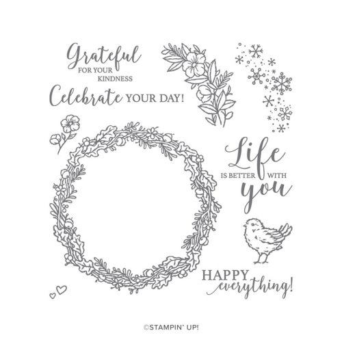 Stampin' Up! Seasonal Wreaths Stamp Set - for inspiration, FREE Tutorials, and more visit juststampin.com - Jeanie Stark StampinUp