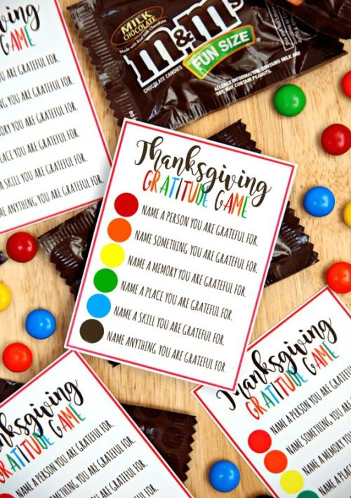 Thanksgiving Gratitude Game idea - visit juststampin.com for inspiration and Stampin' Up! supplies - Jeanie Stark StampinUp