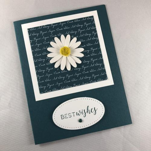 Stampin' Up! Medium Daisy Punch Wedding card idea - visit juststampin.com - Jeanie Stark StampinUp