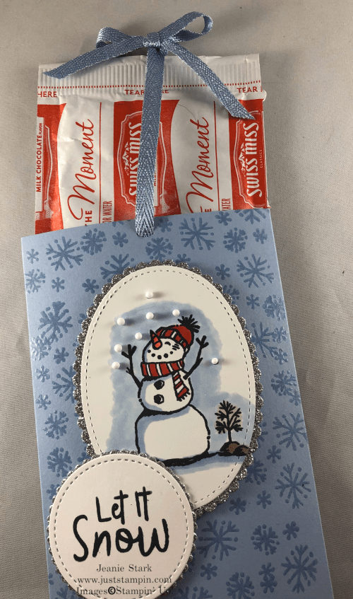 Stampin' Up! Snowman Season Cocoa Mix gift idea - Jeanie Stark StampinUp