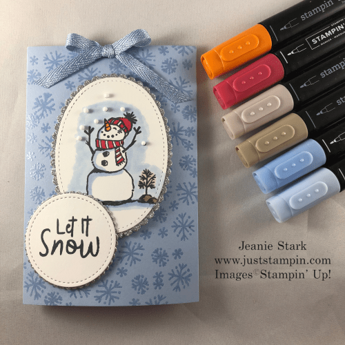 Stampin' Up! Snowman Season Slider Card idea for Cocoa Mix - Jeanie Stark StampinUp