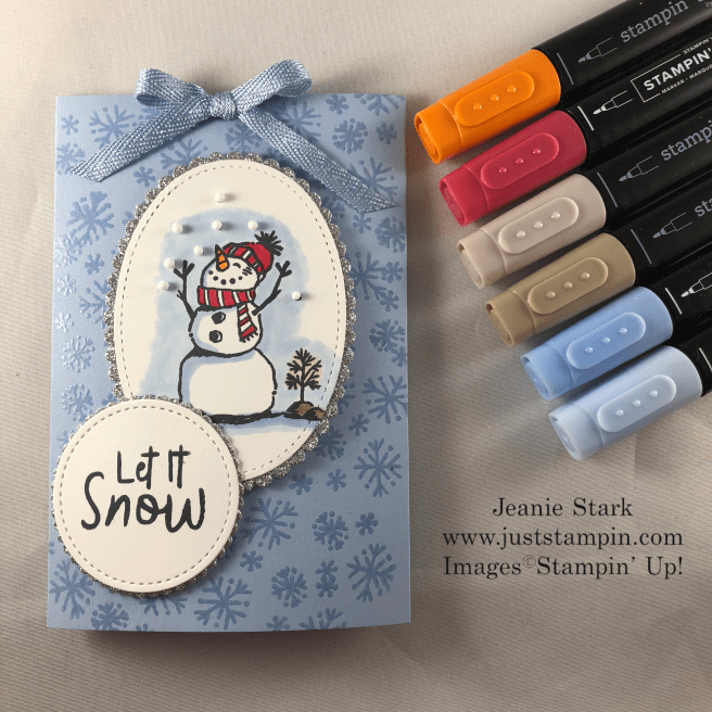 Stampin\' Up! Snowman Season Slider Card idea for Cocoa Mix - Jeanie Stark StampinUp