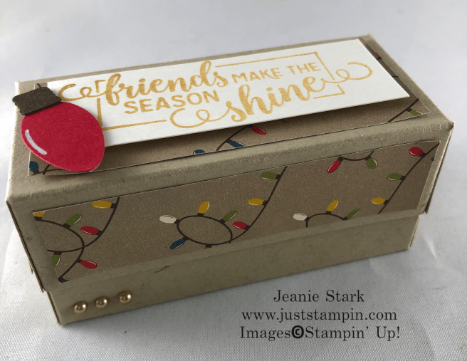 Stampin' Up! Making Christmas Bright fold over box gift idea for friends - Jeanie Stark StampinUp