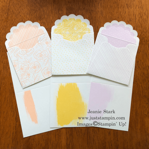 Stampin' Up! Best Dressed 3 x 3 Note Cards & Envelopes - For inspiration and ordering information, visit juststampin.com - Jeanie Stark StampinUp