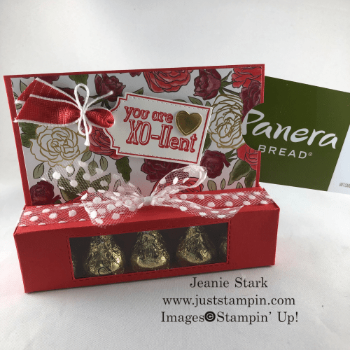 Stampin' Up! Hershey Kiss gift card holder idea using Tags Tags Tags Bundle and Christmastime is Here Specialty Designer Series Paper - Jeanie Stark StampinUp