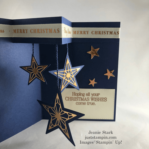 Stampin' Up! So Many Stars Fun Fold Christmas card idea - Jeanie Stark StampinUp