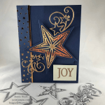 Stampin\' Up! So Many Stars Fun Fold Christmas card idea - Jeanie Stark StampinUp