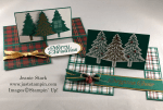 Stampin\' Up! Perfectly Plaid Fun Fold Christmas card idea - Jeanie Stark StampinUp