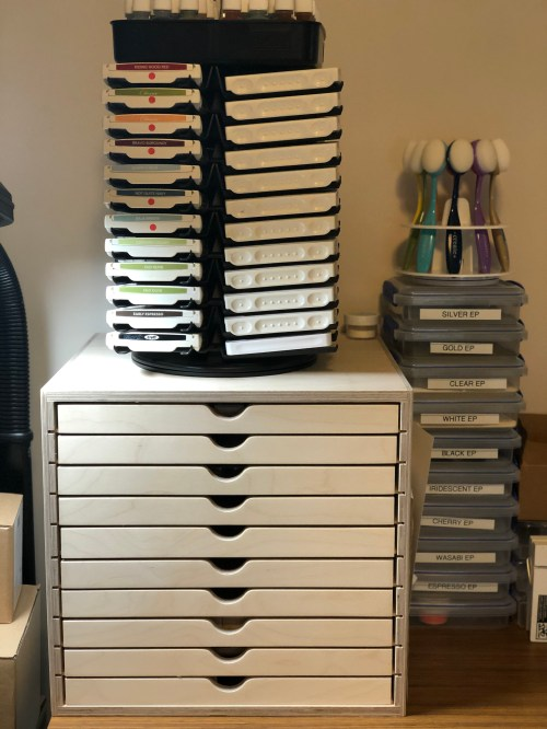 Stampin' Up! Craft room storage and organization ideas - for tips, storage, and organization ideas visit www.juststampin.com - Jeanie Stark StampinUp!