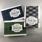 Stampin\' Up! So Sentimental masculine thank you note cards featuring the Country Club Designer Series Paper - Jeanie Stark StampinUp