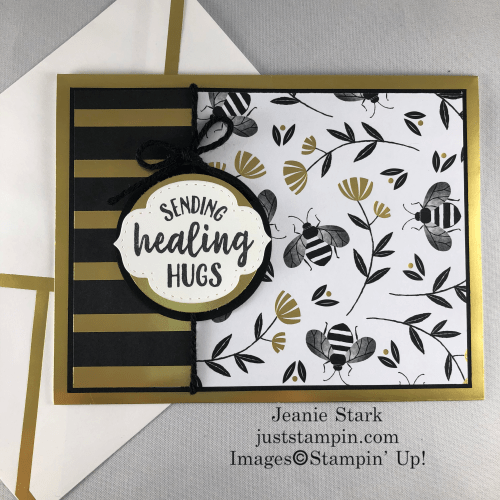 Stampin' Up! So Sentimental Get Well card idea - Jeanie Stark StampinUp