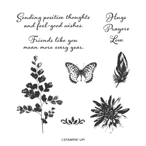 Stampin Up Positive Thoughts stamp set - For inspiration and ordering information visit juststampin.com Jeanie Stark StampinUp