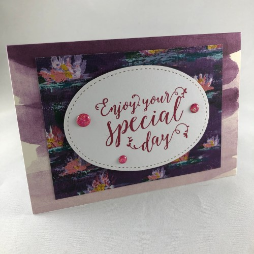 Stampin Up Lilly Impressions birthday card idea - Visit juststampin.com for products and inspiration - Jeanie Stark StampinUP