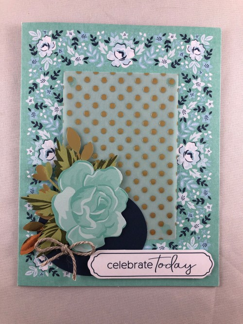Stampin Up Sale-A-Bration Kerchief Card Kit birthday card idea - Jeanie Stark StampinUp