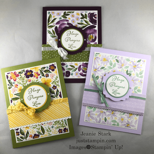 Stampin Up Best Dressed Positive Thoughts card ideas for friends and family - Jeanie Stark StampinUp