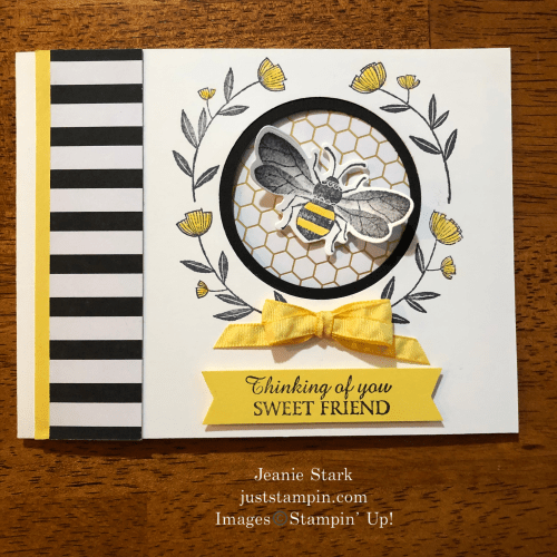 Stampin' Up! Honey Bee Thinking of You peek-a-boo card idea for a friend - Jeanie Stark StampinUp