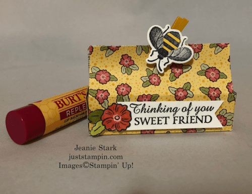 Stampin' Up! Ornate Garden and Honey Bee Burt's Bees Balm Box idea - Jeanie Stark StampinUp