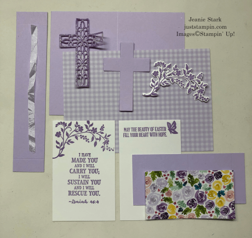 Stampin' Up Hold on to Hope and Crosses of Hope fun fold card pieces for Easter card idea - Jeanie Stark StampinUp