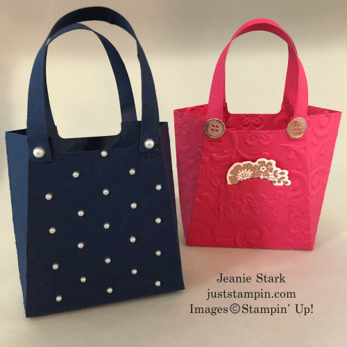 Stampin' Up! All Dressed Up Dies Purse ideas - Jeanie Stark StampinUp