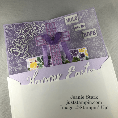 Stampin Up Best Dressed Hold On To Hope fun fold Easter card idea - Jeanie Stark StampinUp