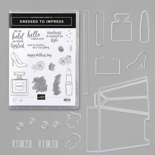 Stampin' Up! Dressed To Impress Bundle - for inspiration and ordering information, visit juststampin.com - Jeanie Stark StampinUp