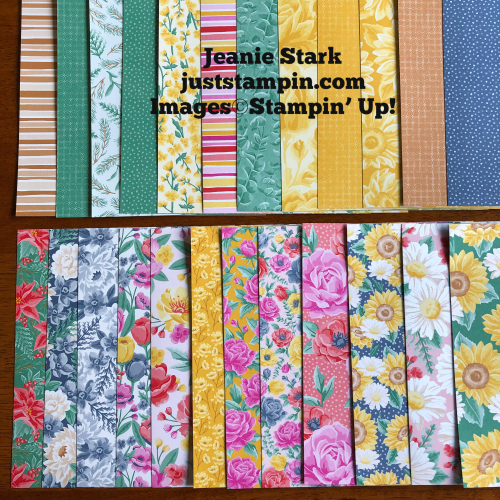 Stampin' Up! Flowers For Every Season 6x6 Designer Series Paper - for inspiration and ordering information visit juststampin.com - Jeanie Stark StampinUp