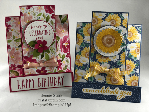 Stampin' Up! In Color fun fold birthday card ideas - Jeanie Stark StampinUp