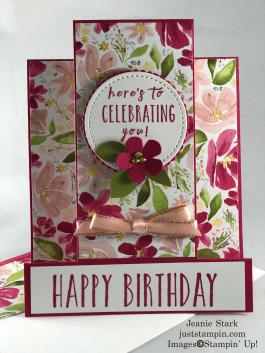 Stampin' Up! Perennial Birthday Best Dressed fun fold birthday card idea - Jeanie Stark StampinUp